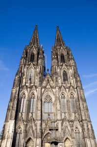 Cologne Cathedral aginst Blue Sky
